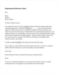 Recommendation Letter For Employee Template Free Reference Letter Sample Letters Template For Employee