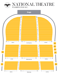 La Live Seating Chart Seating Chart The National Theatre Washington D C