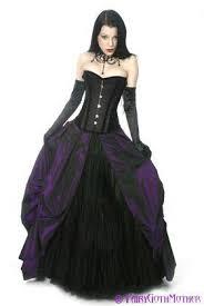 discount purple and black wedding dresses corset gothic bridal