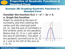 example 2b graphing quadratic functions in standard form