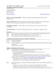 Military Transition Resume Examples Security Clearance Example To