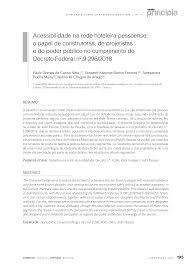 Acessibilidade na rede hoteleira pessoense: o papel de construtoras, de  projetistas e do poder público no cumprimento do Decret