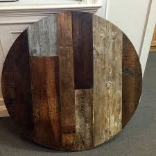 42 round wood table top
