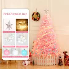 Light Pink And Blue Christmas Decorations 120cm Pink Christmas Tree For Family Christmas Decoration Holiday Party Decoration Set To Send String Ball Christmas Lawn Decoration Christmas Lawn
