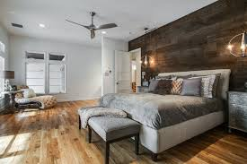 bright minka aire ceiling fans in bedroom contemporary with reclaimed wood walls next to wood accent