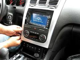 how to remove radio navigation dvd from gmc acadia radio how to remove radio navigation dvd from 2008 gmc acadia radio for repair