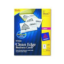Avery Business Cards Template 5871 Avery Dennison Inkjet Business