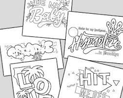 More than 100 challenging coloring pages for girls. Hard Coloring Pages Etsy