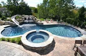 backyard pool with slides. Home Swimming Pool Slides Gorgeous Design Lover Backyard  With Slide X .