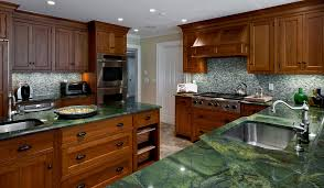green granite countertops for kitchen