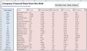Yahoo Finance Quotes Awesome Get Company Financial Data In Excel