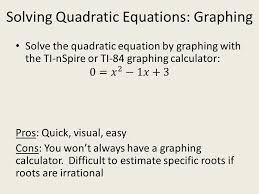10 solving quadratic equations graphing