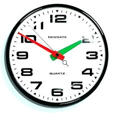 silent wall clocks large clock mechanism retro black convex ticking uk on si