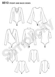 Bodysuit Sewing Pattern New Simplicity Simplicity Pattern 48 Misses' Knit Bodysuits