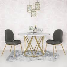 Shop Cosmoliving Elle Round Dining Table On Sale Free Shipping