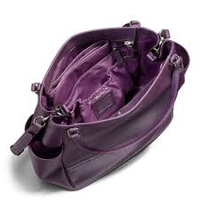 low lyst coach baby bag tote in saffiano leather in purple 80264 ea1aa