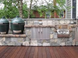 outdoor kitchen outdoor kitchen with double big green eggs