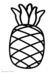 Fruit Coloring Pages Pineapple Full Size Of Endearing Page For Kids
