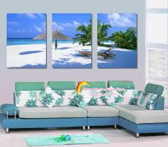 modern wall art home decoration printed oil painting pictures no frame 3 panel palm trees beach on 3 panel wall art beach with 3 panel modern wall art home decoration canvas painting canvas