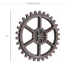 more details more detailed photos industrial style wooden gear wall decor