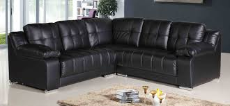 ... couch, Sale Comfortable Corner Couch Leather Black Leg Silver Iron Couch  Modern Design: Cozy ...