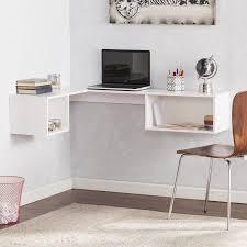 white corner office desk. Charming Wall Mount Corner Office Desk White Finish With Storage Shelf Design N