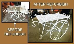 wooden rolling tea cart vintage wrought iron patio beverage s antique drop leaf vintage 2 tier metal rolling tea cart