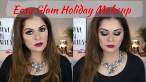 easy glam holiday makeup tutorial afifa aadil