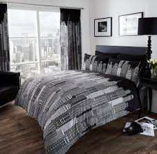 black white city skyline bedding twin full queen king duvet skyline comforter set print coloring