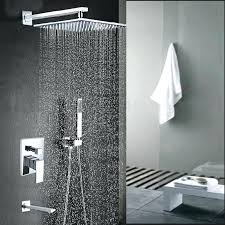 Tub Spout With Handheld Shower Modern Chrome Deck Mounted Bath