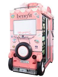 Benefit Vending Machine Prices Mesmerizing Benefit Cosmetics Vending Machine Airport Makeup Kiosk