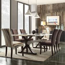 INSPIRE Q Trumbull Stainless Steel Dining Table - Overstock Shopping -  Great Deals on INSPIRE Q Dining Tables ~ Interesting table design.