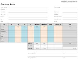 Sheet Time Weekly Time Sheet 8 1 2 X 11 Landscape
