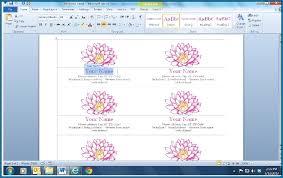 Microsoft Business Cards Templates Microsoft Office Business Cards Template 829