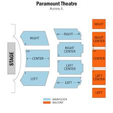 Seating Chart Paramount Theater Aurora Il Paramount Theatre Aurora Tickets Schedule Seating