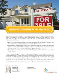 home for sale template farm the drawbacks of overpricing your home for sale first