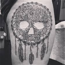 Dream Catcher Tattoo Sketch Dreamcatcher Tattoos for a Good Night Sleep 47
