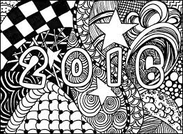 Small Picture Adult coloring page new year 2016 Happy New Year 2016 1