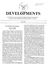 acpa history inaugural issue of developments 1975