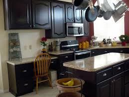 ... staining kitchen cabinets darker ...