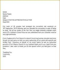 how to write an appreciation letter pastor appreciation letter