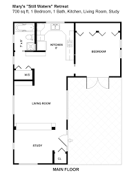 1 bedroom guest house plans decorating ideas 1 bedroom guest house floor plans large