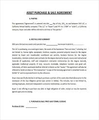 7 Business Purchase Agreement Form Samples Free Sample Example
