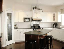 Kitchen, Kitchen Island Designs For Small Kitchens Exposed Raw Wooden  Ceiling Polished Stone Countertop Leather