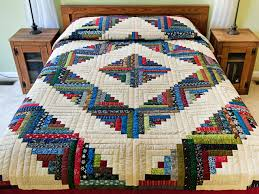 Log Cabin Quilt -- magnificent made with care Amish Quilts from ... & Multicolor Traditional Log Cabin Quilt Photo 1 ... Adamdwight.com