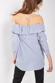 Stripe Bardot Shirt Dress Dresses Clothing Bardot Shirt