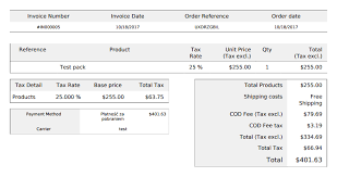 Invoice For Shipping Show Cash On Delivery Fee And Fee Tax On Invoice