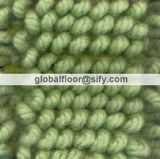 gff 10024 twisted loop wool gy rugs green colour