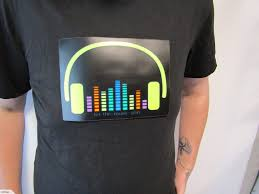 Light Up Shirts Light Up T Shirt Sound Activated Really Cool Different Styles