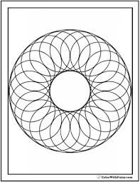 Printable Coloring Pages geometric shape coloring pages : Free Printable Geometric Coloring Pages For Adults in Geometric ...
